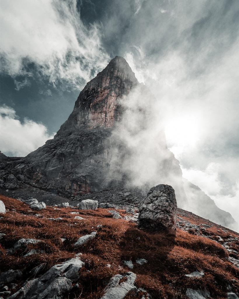 Lukas Klima ist in den Bergen unterwegs für Sie und scheut keine Witterung